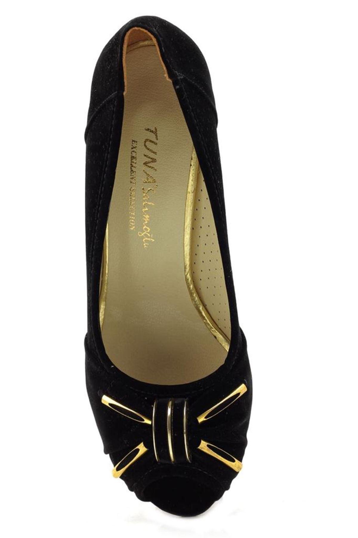 Fantasy Süed Alçak Topuk Bayan Ayakkabı