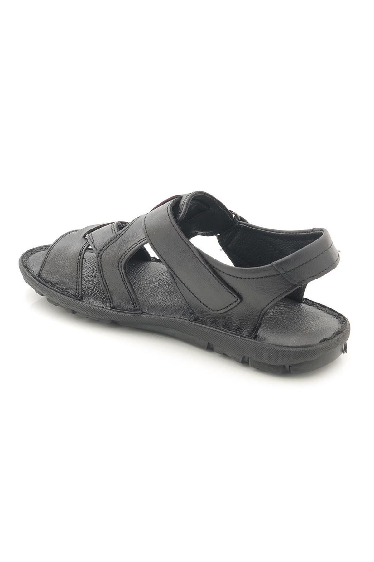 AyakkabıVakti Hakiki Deri Yumuşak Erkek Sandalet