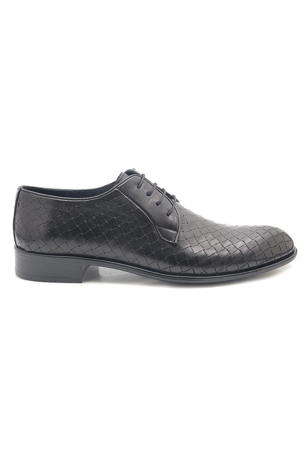 Various Hakiki Deri Desenli Klasik Erkek Ayakkabı