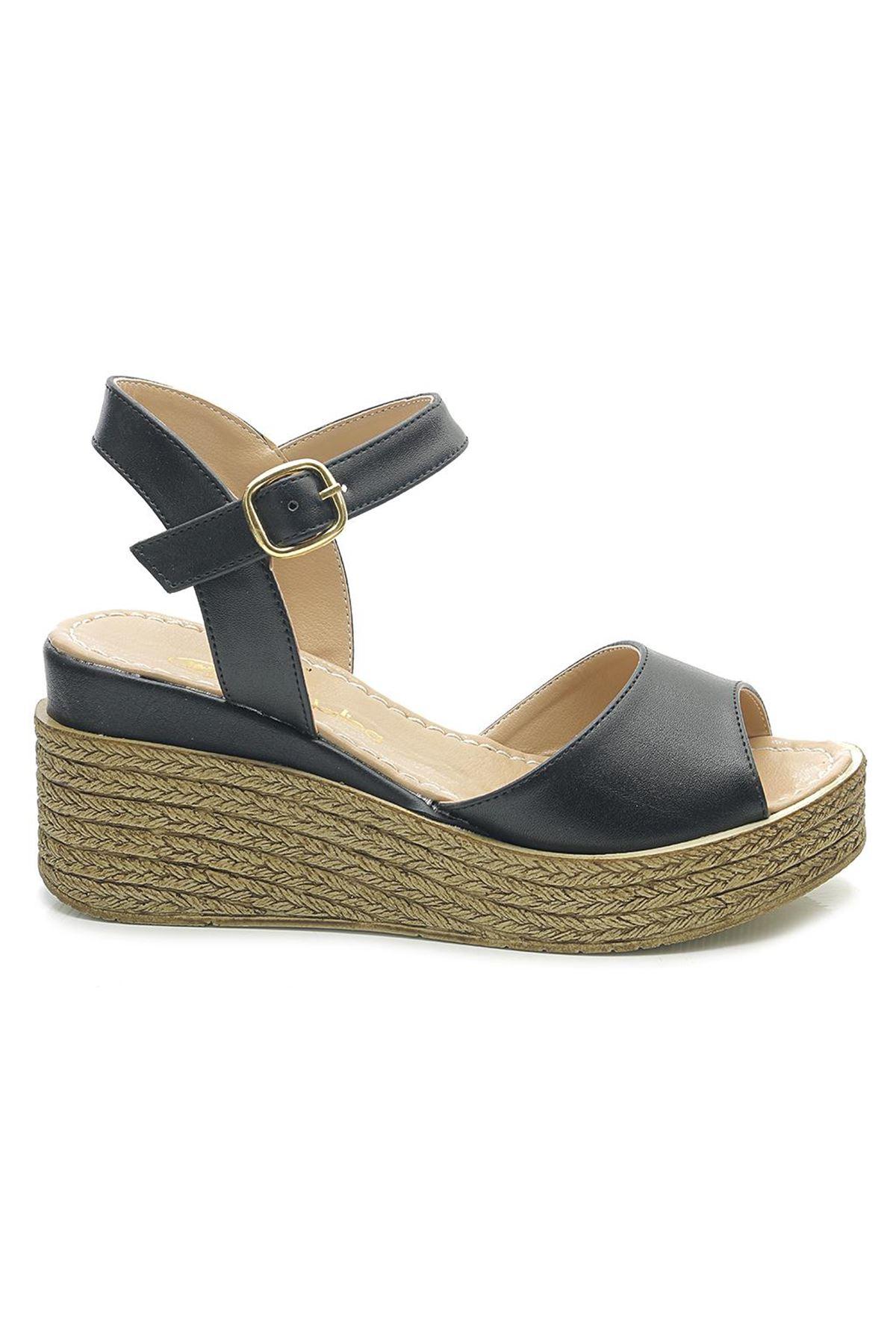 Moda Lisa 5300 Dolgu Topuk Kadın Ayakkabı