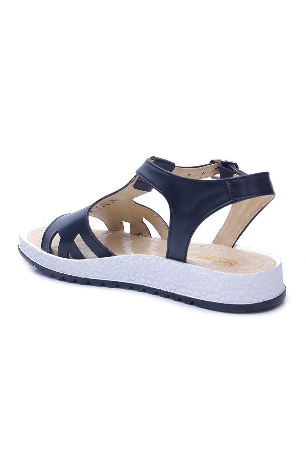 Lady 4420 Düz Taban Günlük Kadın Sandalet