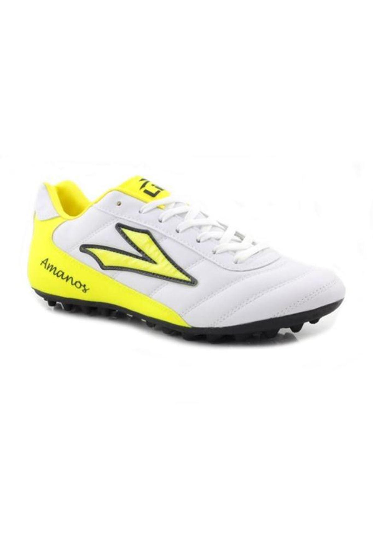 Lig Amanos Erkek Beyaz Halısaha Spor Ayakkabı