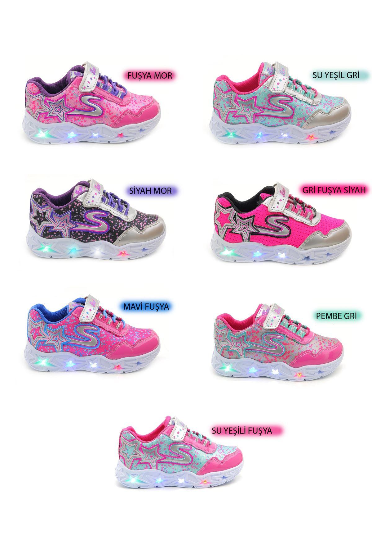 Kids World 20-30 Yüksek Taban Kız Çocuk Spor Ayakkabı