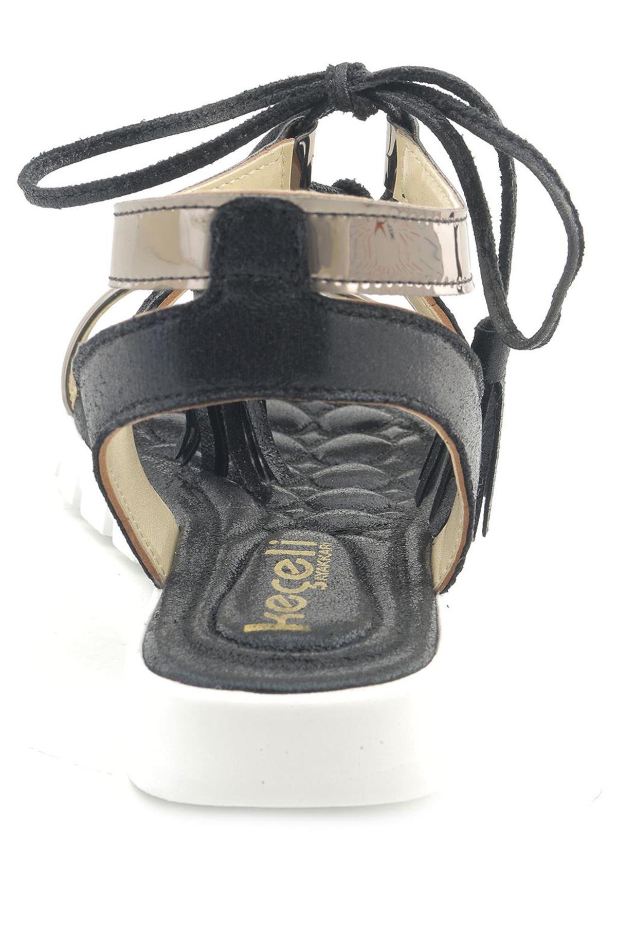 Lady 0021 Bağcıklı Günlük Kadın Sandalet