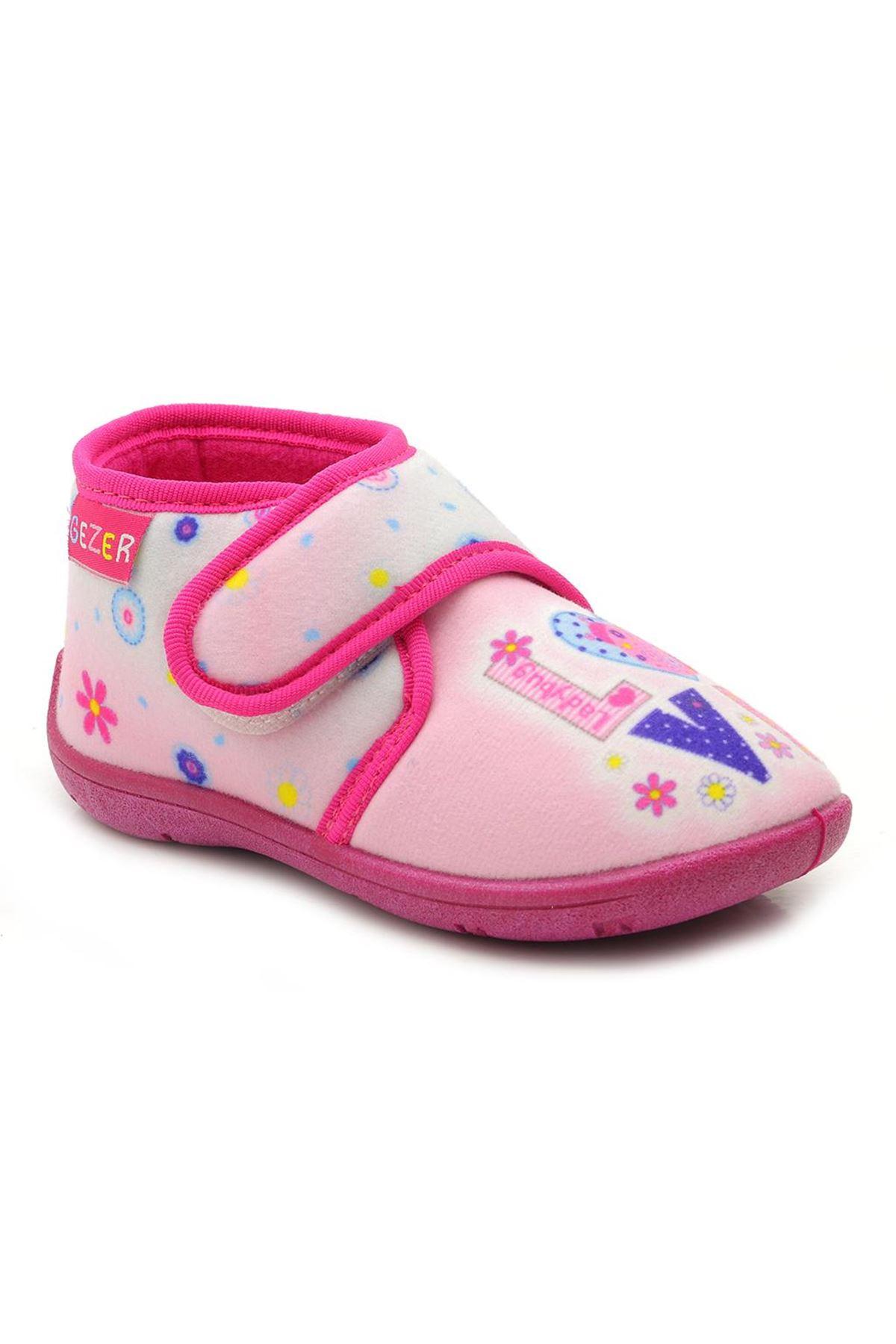 Gezer 2001 Pembe Kız Çocuk Panduf Ev Ayakkabısı