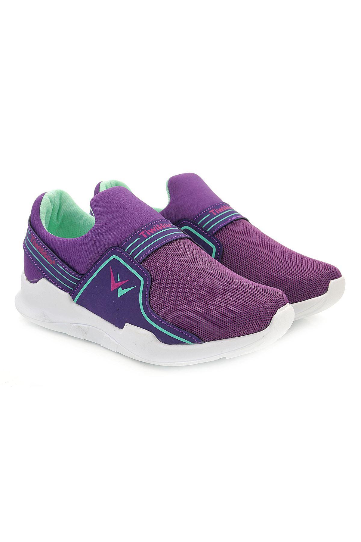 Kids World Anorak Mor Kız Çocuk Comfort Spor Ayakkabı