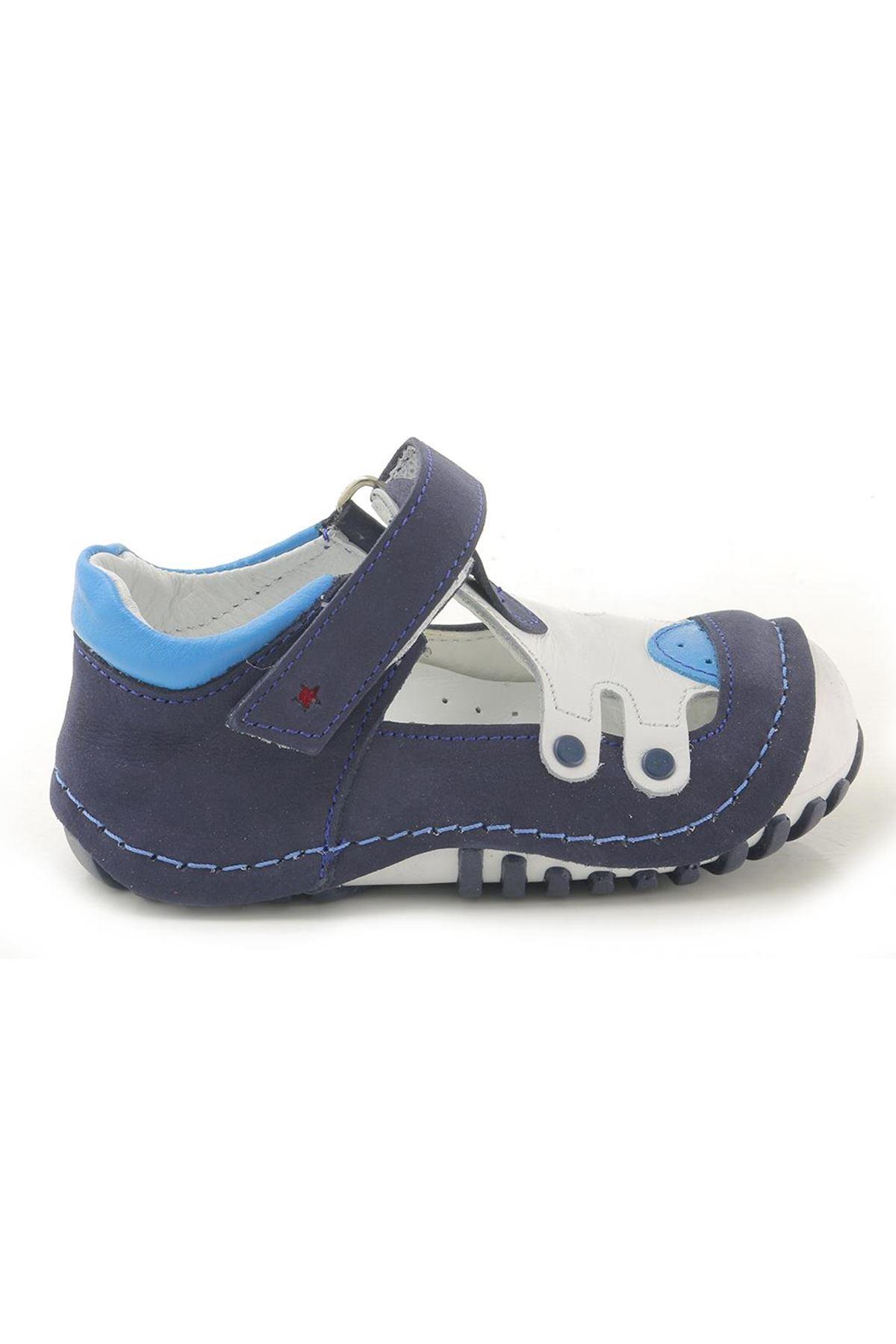 Kids World T22 Hakiki Deri Ortopedik Erkek Çocuk Ayakkabı