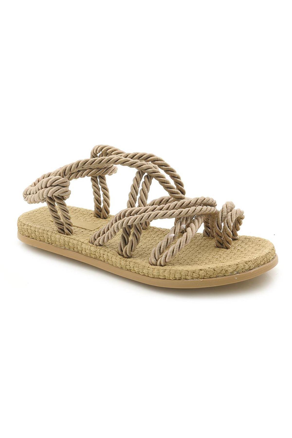Halat Sandalet 0203 Yumuşak Tabanlı