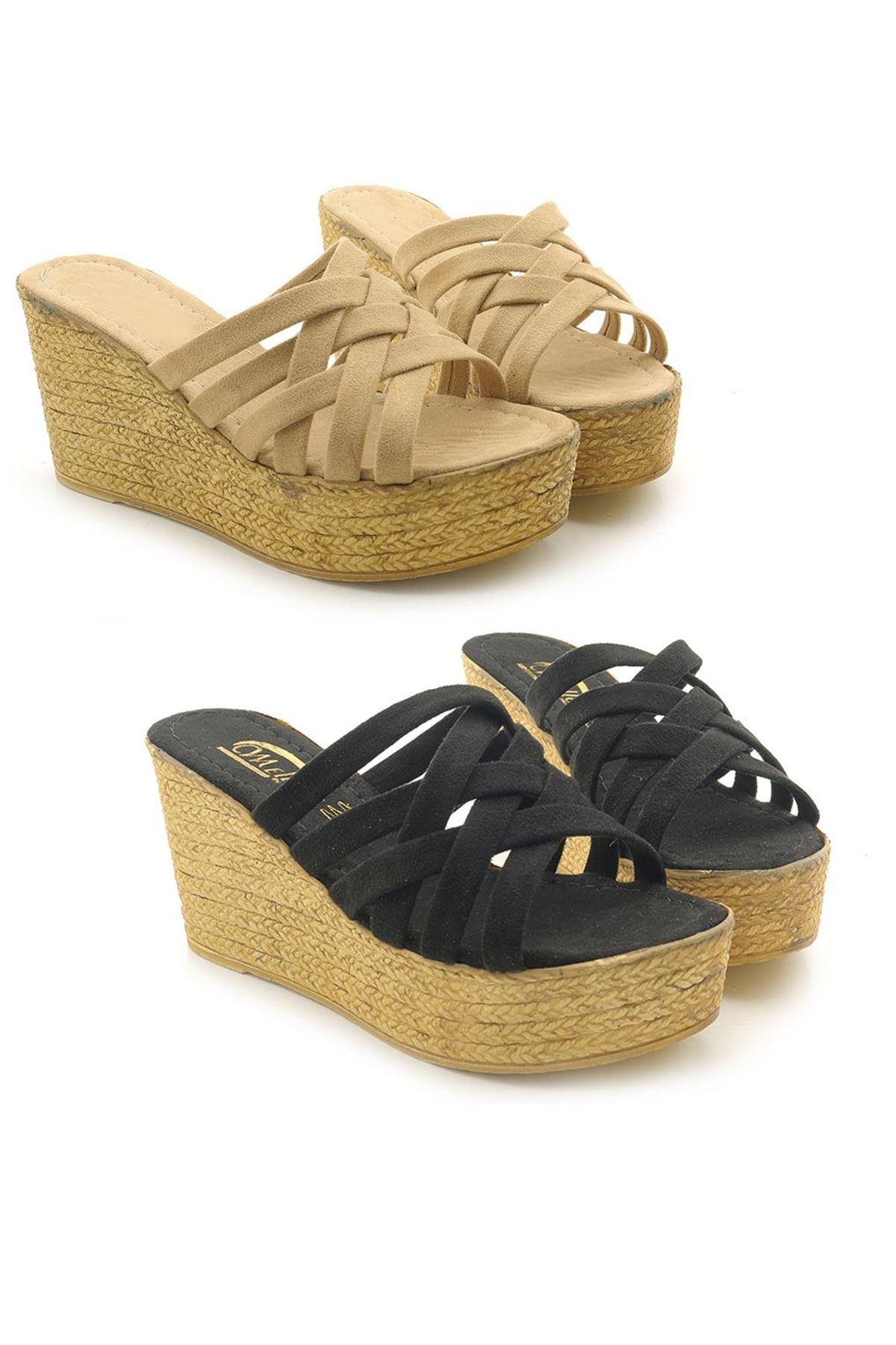 Legend K00556 Hakiki Deri Ortopedik Kadın Sandalet