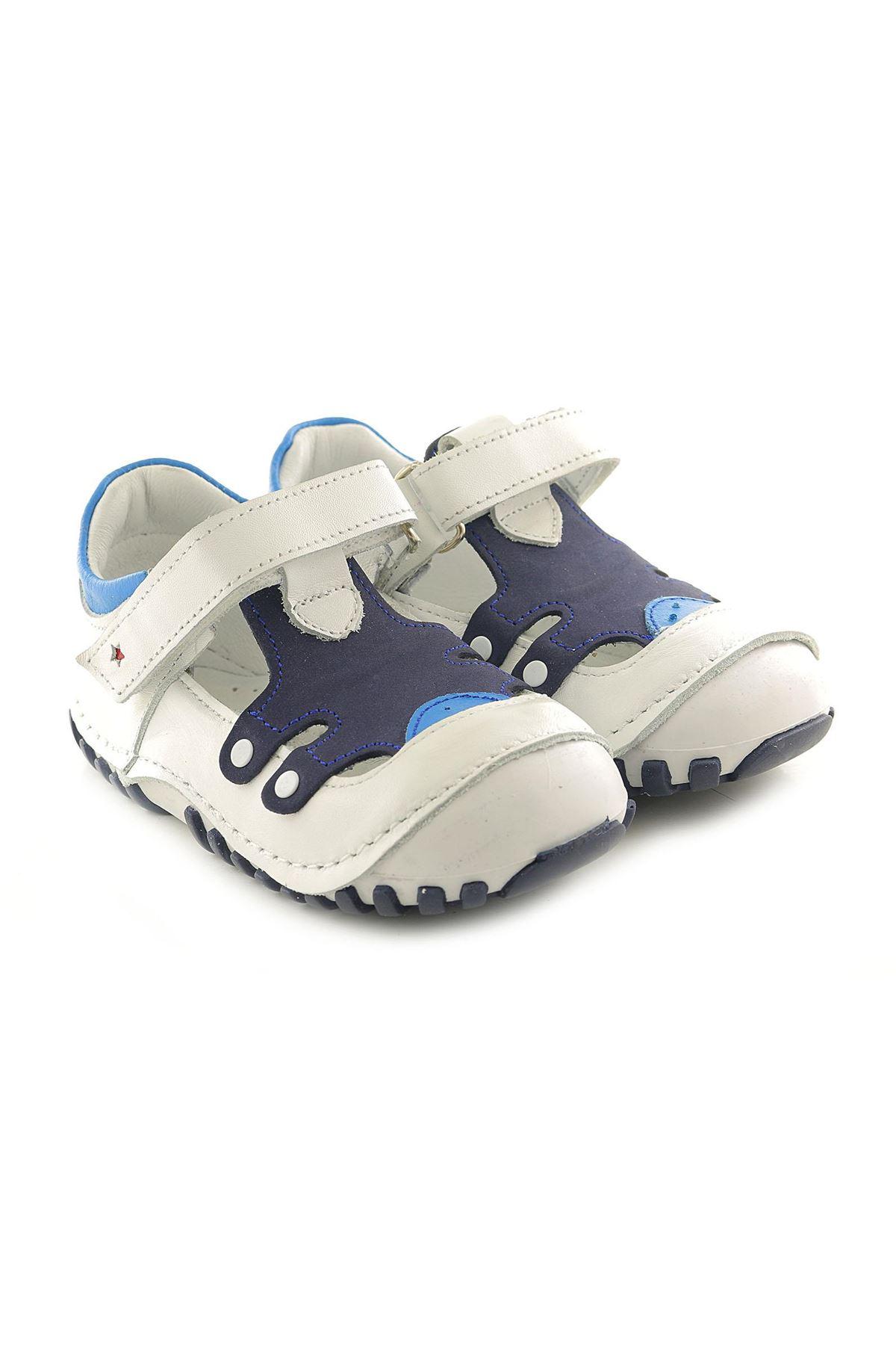 Kids World T23 Hakiki Deri Ortopedik Erkek Çocuk Ayakkabı