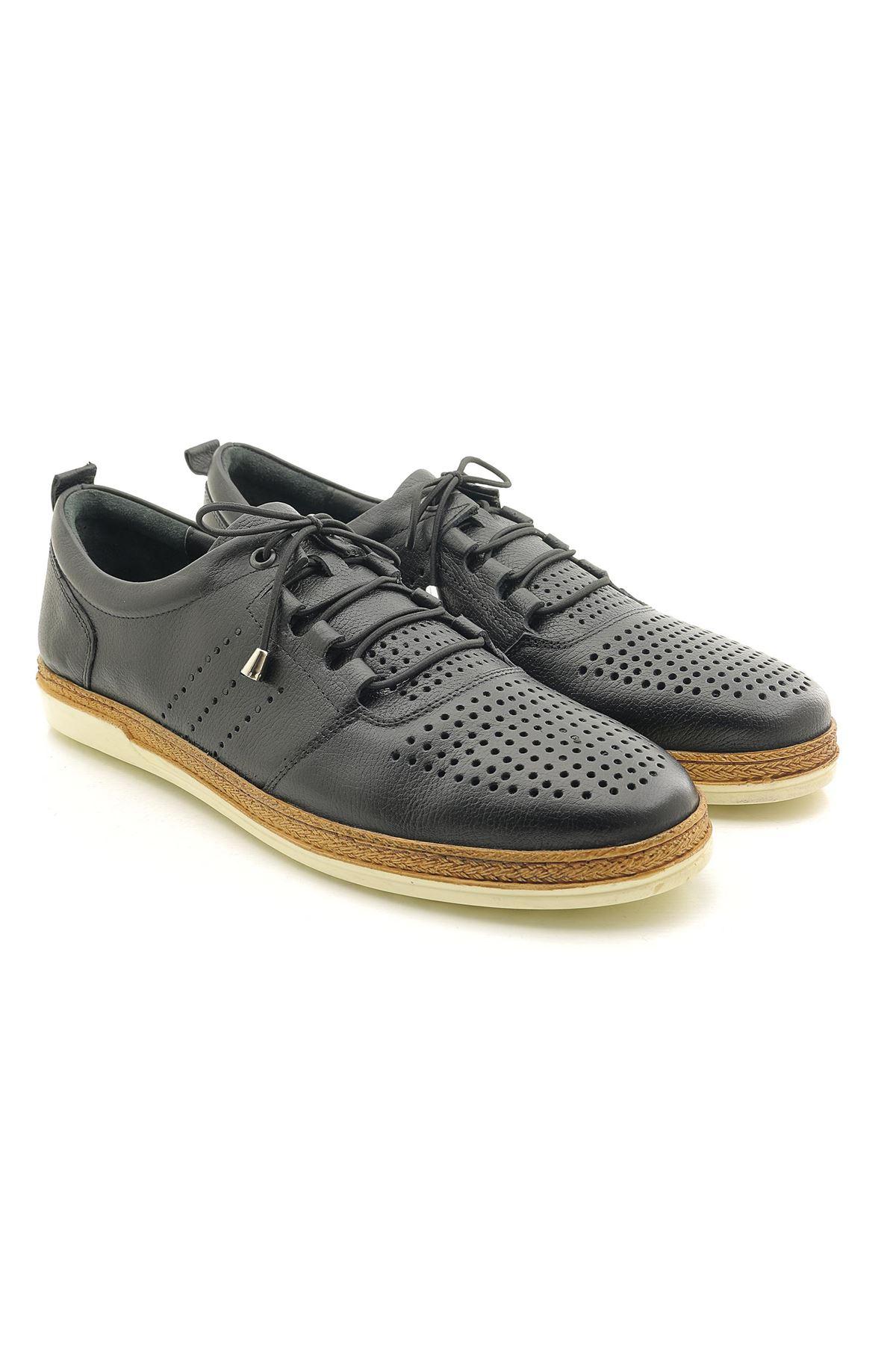 Man U962 Hakiki Deri Timsah Deri Desenli Ayakkabı