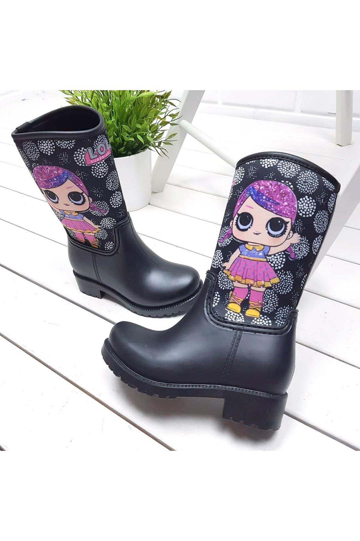 Kids World LoL Desen Kız Çocuk Yağmur Çizmesi
