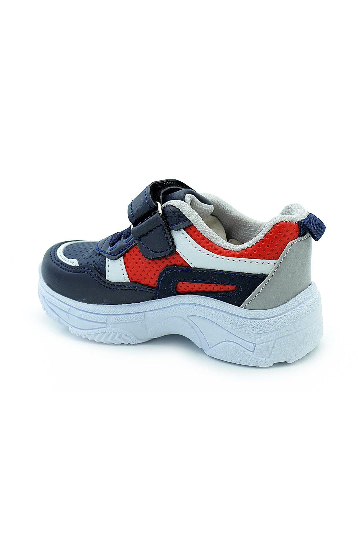 Kids World 20-22 Erkek Çocuk Kalın Taban Spor Ayakkabı