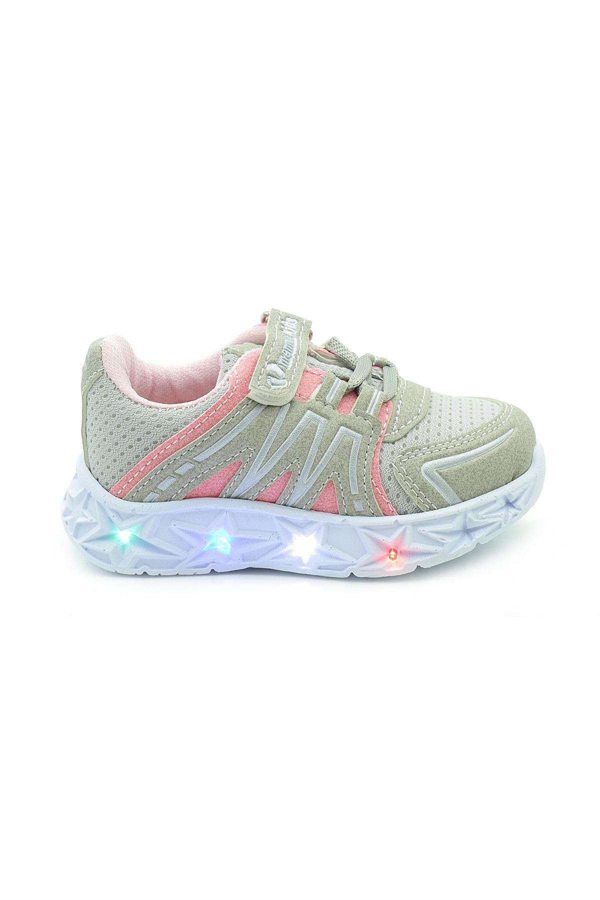 Kids World 30-20 Işıklı Kız Çocuk Bebek Spor Ayakkabı