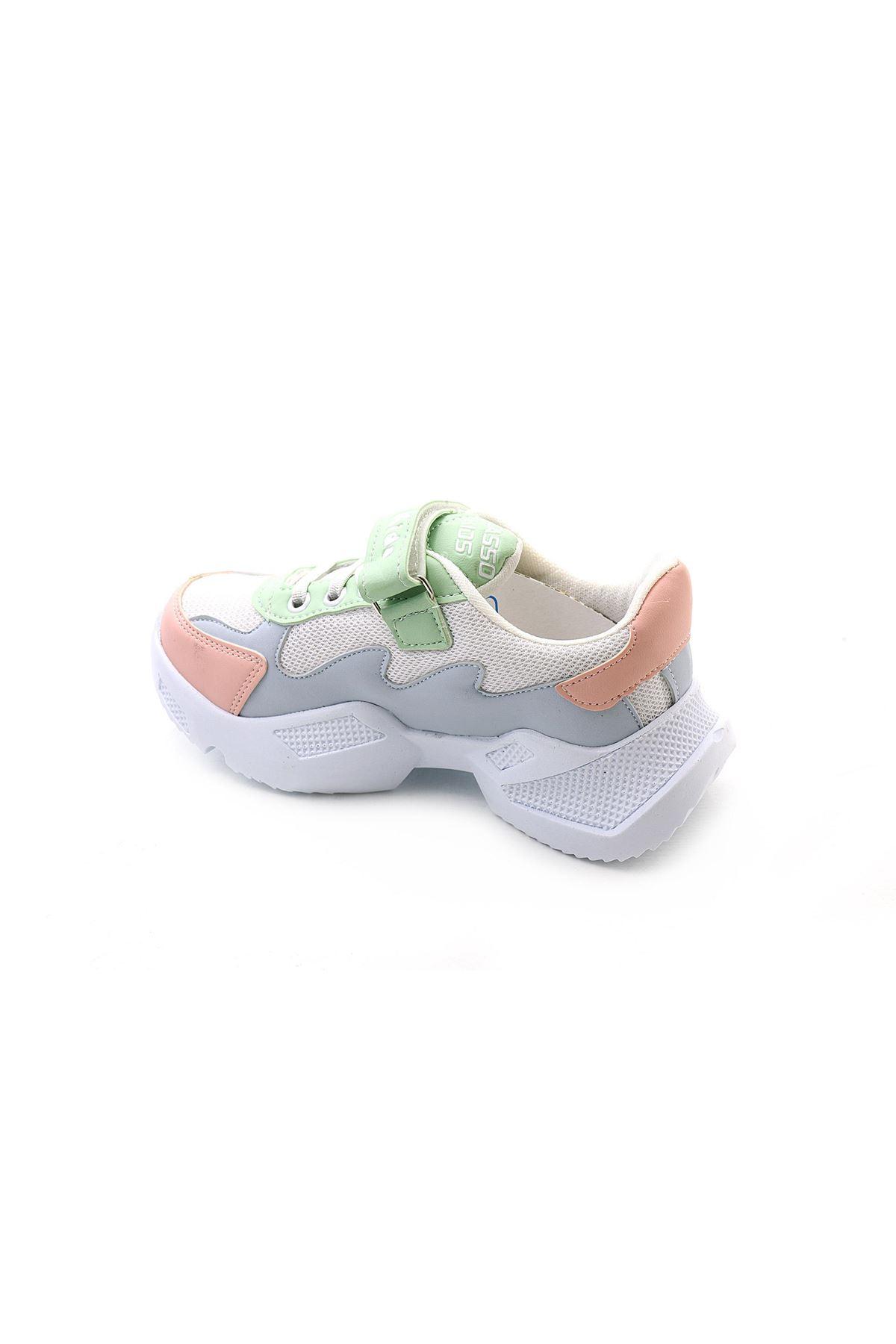 Kids World 333-1 Yüksek Taban Kız Çocuk Spor Ayakkabı